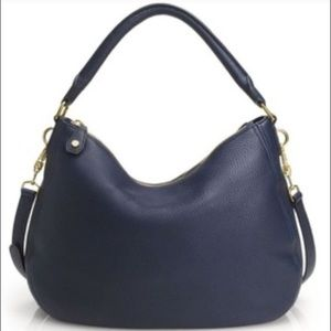 J. Crew Biennial Navy Leather Hobo